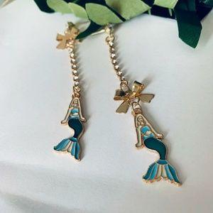 Betsey Johnson Dangling Mermaid Earrings